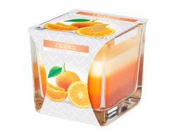 Sviečka sklo Dúha Pomaranč 170g