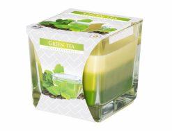 Sviečka sklo Dúha Zelený čaj 170g