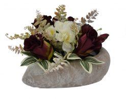 Arnažmán Srdce s ružami karmínový