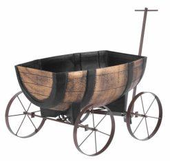 kvetináč barel vozík